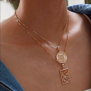 Dragon Coin Pendant Necklace